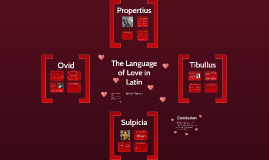 The Language of Love in Latin