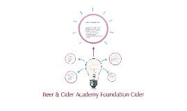 Beer & Cider Academy