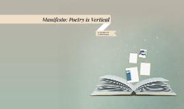 Manifesto: Poetry is Vertical