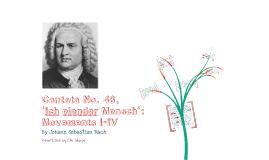 Copy of Cantata No.48, 'Ich elender `mensch': movements I-IV by Johann Sebastian Bach