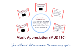 Music Appreciation Class Introduction
