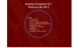 Medida Provisória 627