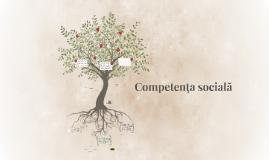 Competență socială
