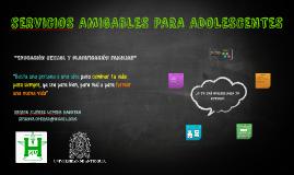 sERVICIOS AMIGABLES PARA ADOLESCENTES