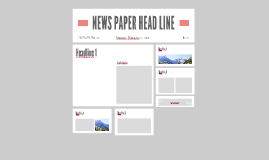 NEW SPAPER HEAD LINE