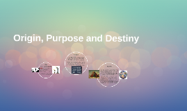 Origin, Purpose and Destiny