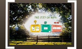 Fall 2013 GA Presentation