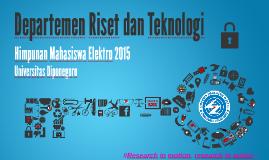 Program Kerja Departemen Ristek HME 2015