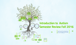 Introduction to Autism Semester Review