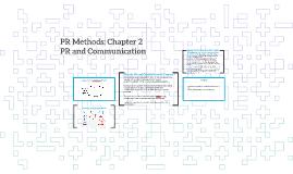 PR Methods: Chapter 2