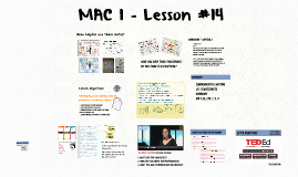 MAC 1 - Lesson #14