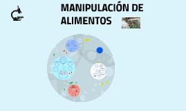 MANIPULACIÓN DE ALIMENTOS