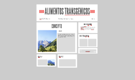 ALIMENTOS TRANSGENICO