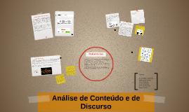 Análise de Conteúdo/Discurso