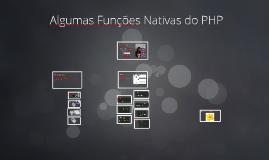 Copy of Algumas Funções Nativas do PHP