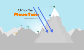 Copia de Climb the Mountain - Prezi Template