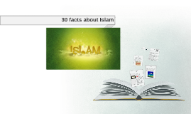 30 facts about Islam