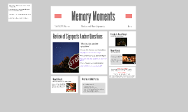 Notice and Note: Memory Moments
