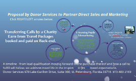 Transferring Calls by a Charity Earn from Travel on Backend