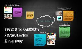 Speech Impairment Articulation and Fluency