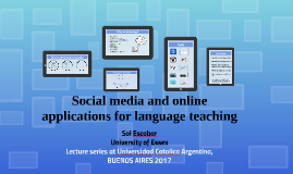 Social media and online applications for language teaching