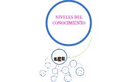 Copy of NIVELES DEL CONOCIMIENTO