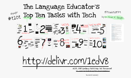 The Language Educator's Top Ten Tasks with Tech