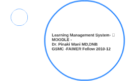 Learning Management System- MOODLE -