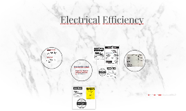 Electrical Efficency