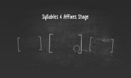 Syllables & Affixes Stage