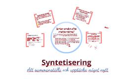 Syntetisering i forskningsöversikt