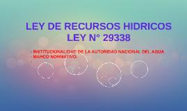 LEY DE RECURSOS HIDRICOS