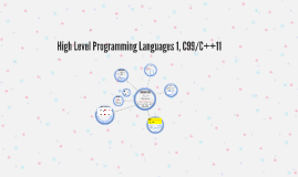 High Level Programming Languages 1, C++11