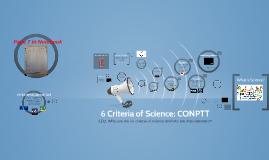 Copy of 6 Criteria of Science: CONPTT