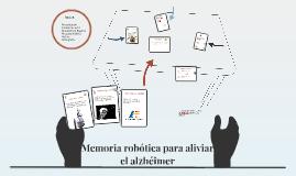 Memoria robótica para aliviar el alzhéimer