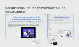 Mecanismos de transformación de movimiento