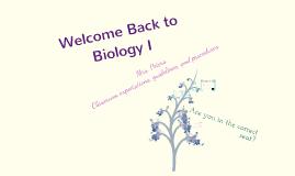 Biology - refresher