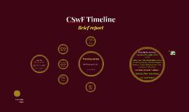 CSwF Timeline