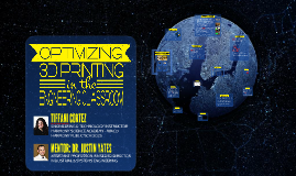 TIFFANI CORTEZ - E3 SYMPOSIUM PRESENTATION - 3D PRINTING