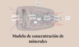 Modelo de concentración de minerales