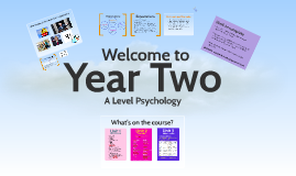 Year 2 Psychology