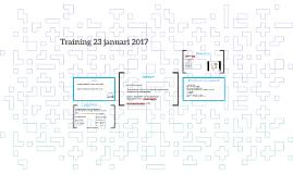 Training 23 januari 2017