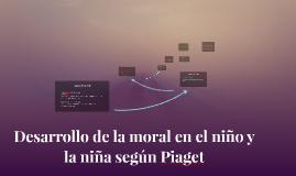Desarrollo de la moral en el niño y la niña según Piaget
