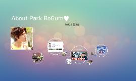 About Park BoGum♥