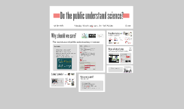 Copy of Do the public understand science?