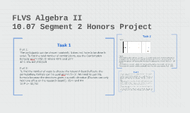 FLVS Algebra 2 Segment 2 Honors Project