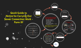 Quick Guide to Notice for Carrying Out Sewer Connection Work- Form B1