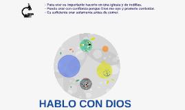 HABLO CON DIOS