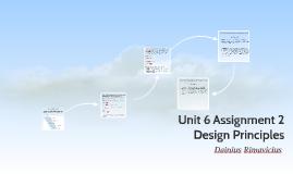 Unit 6 Assignment 2  Design Principles