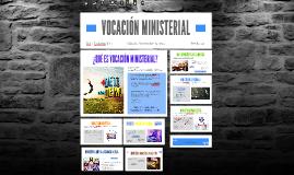 VOCACIÓN MINISTERIAL